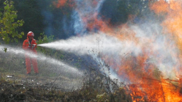 vrijwillige brandweer oefening 1