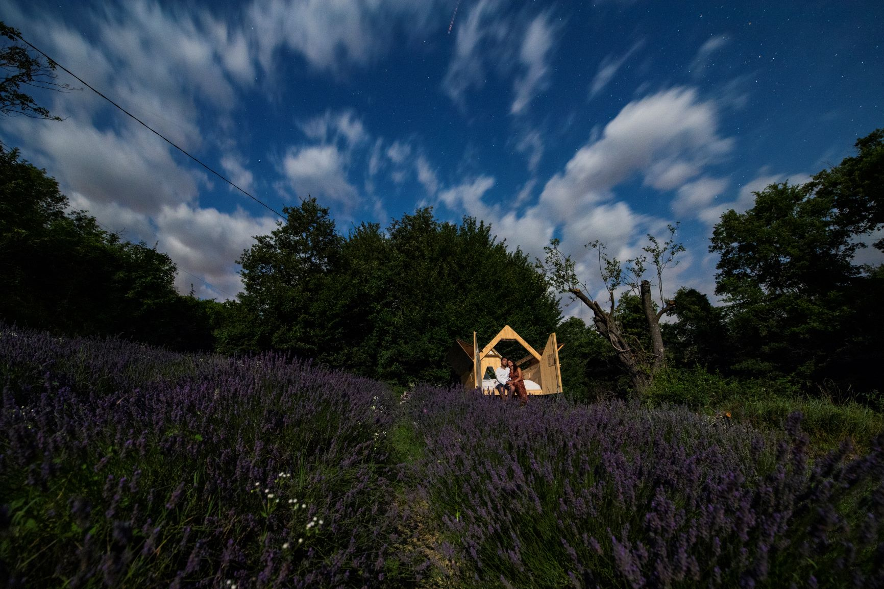 A night under the sky Italy glamping